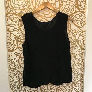 Splendid Tops - Splendid Black Knot Bottom Sleeveless Tank Sweater